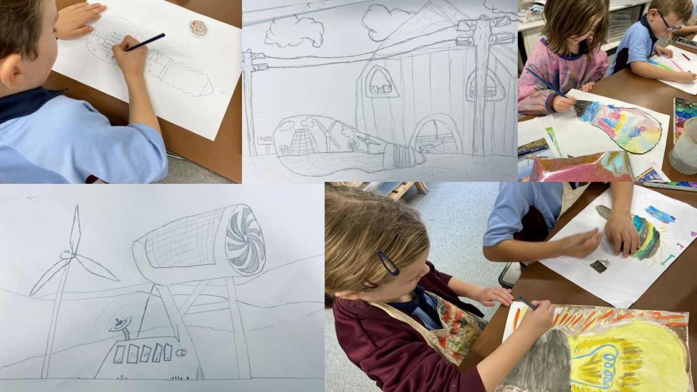 School art competition entries